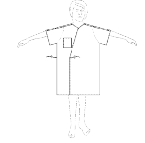 Gown with Pockets Invention